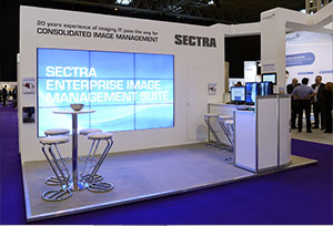 Sectra Custom Build Exhibition Stand