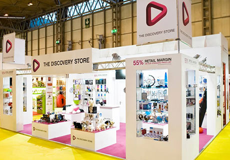 The Discovery Store Colonnade and Gantry Exhibition Stand